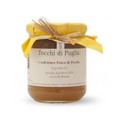 Tocchi di Puglia Confettura Extra di Pesche in Vasetto da 260 grammi
