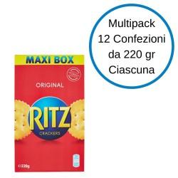 Ritz Classici Crackers 12 Astucci da 220 Grammi Ciascuno Cotti Al Forno Astuccio Snack Salati