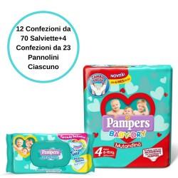 Pampers Baby Fresh Salviette 12 Confezioni + Baby Dry 4 Mutandino 4 Conf.