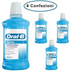 Oral B Colluttorio Fluorinse Protezione Anti-Carie al Fluoro 4 Confezioni da 500 Milliliters