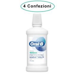 Oral B Colluttorio Menta Fresca Protezione Gengive & Smalto 4 Confezioni da 500 Milliliters
