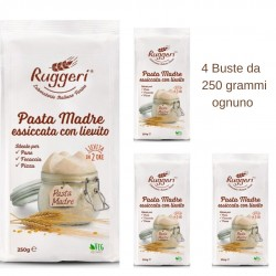 Pasta Madre Essiccata Con Lievito Ruggeri 4 Buste da Grammi 250 Ognuno
