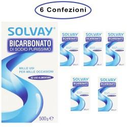 Solvay Bicarbonato di Sodio Purissimo Milleusi Casa & Igiene Personale 6 Confezioni da 500 Grammi