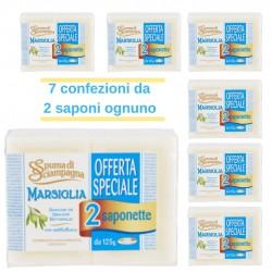 Saponetta Spuma di Sciampagna Marsiglia Con Antibatterico Pz 14 da 125 grammi