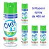 Glade Oust 3in1 Disinfettante per Tessuti e Superfici 5 Flaconi da 400 ml