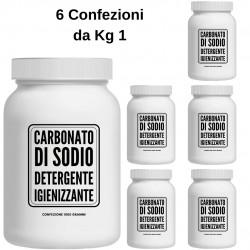 Carbonato di Sodio Detergente Igienizzante Multiuso 6 Confezioni da 1 Kg