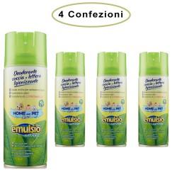 Emulsio Deodorante Spray per Animali Cuccia e Lettiera Igienizzante Citronella 4 Confezioni da 400 Ml