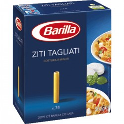 BARILLA ZITI TAGLIATI N. 74 COTTURA 8 MIN I CLASSICI 500 gr.