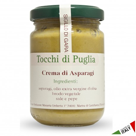 Cream of Asparagus in Jar of 140 grams by the organic farm Tocchi di Puglia