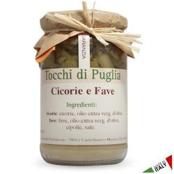 Cicorie e Fave Tocchi di Puglia in Vasetto da 310 grammi