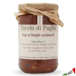 Cardoncelli Mushroom sauce in Jar of 280 grams by the organic farm Tocchi di Puglia