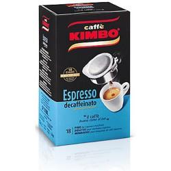 CAFFE' KIMBO ESPRESSO NAPOLETANO DECAFFEINATO 18 CIALDE 125G