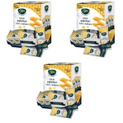 Gaia Tre Confezioni di Miele Millefiori in Bustine 100 Bustine da 4 grammi Ciascuno