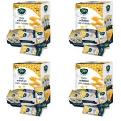 Gaia Quattro Confezioni di Miele Millefiori in Bustine 100 Bustine da 4 grammi Ciascuno