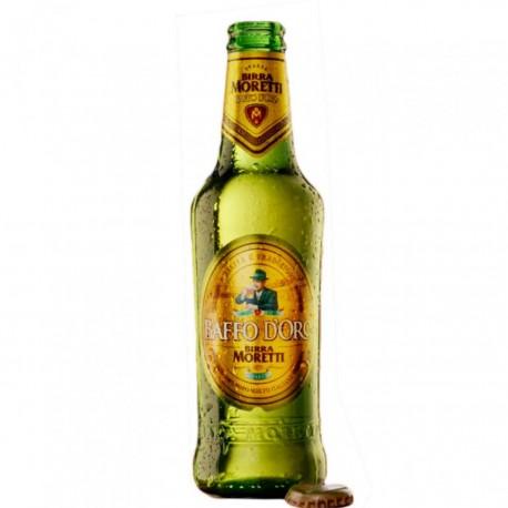 BIRRA MORETTI BAFFO D'ORO CL33X24PZ GRADAZIONE ALCOLICA 4.8%