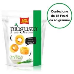 Patatine Piu' Gusto  Sour Cream San Carlo Confezione da 15 Pezzi da 45 Grammi