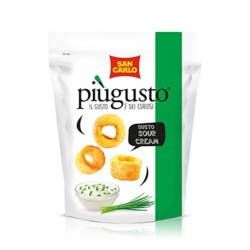 Patatine Piu' Gusto  Sour Cream San Carlo Confezione da 12 Pezzi da 80 Grammi