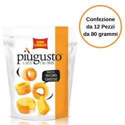 Patatine Piu' Gusto  Nacho Cheese San Carlo Confezione da 12 Pezzi da 80 Grammi